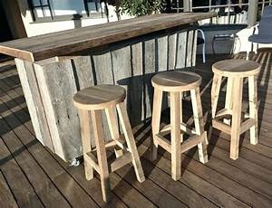 Outdoor Wood Bar Table Bar 3 Wooden Outdoor Bar Table And