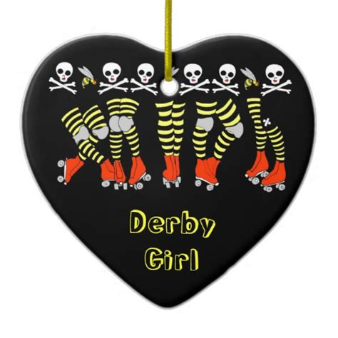 roller derby heart christmas ornament zazzle