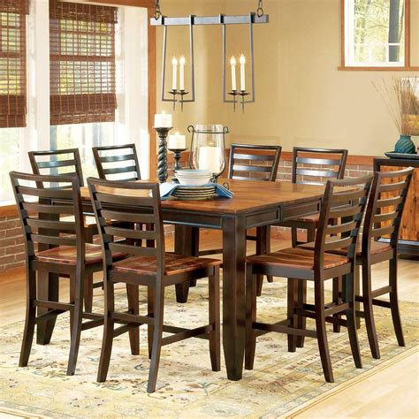 gathering dining tables belfort essentials abaco 9 gathering table set 54 1200