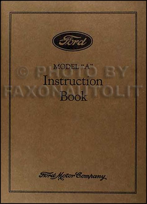 ford model  aa reprint owners manual  car