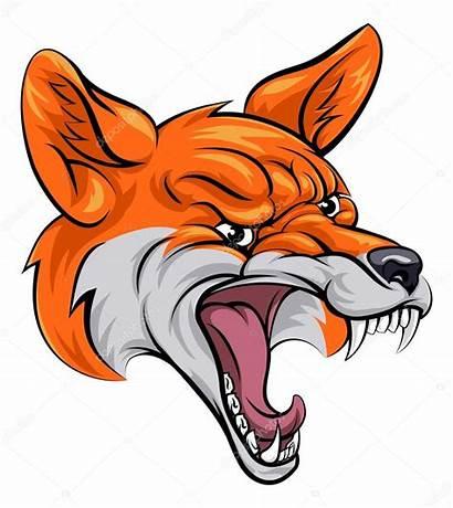 Fox Raposa Augen Clipart Mascotte Mette Mostra