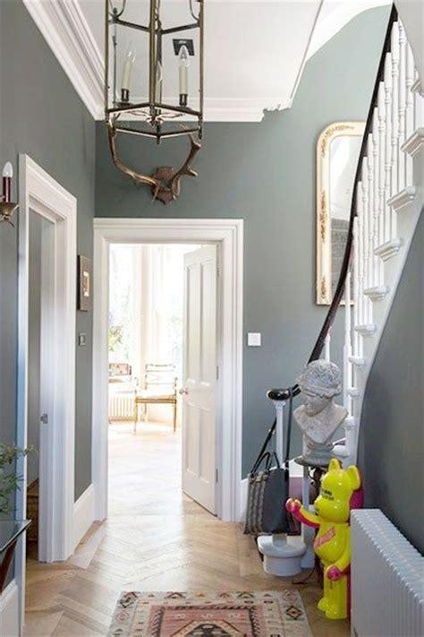 grey paint small hallways modern