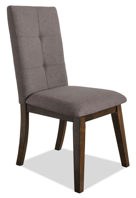 chelsea fabric dining chair brown  brick