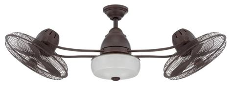 double head ceiling fan with light craftmade bw248ag6 48 quot dual head ceiling fan with blades