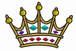 Clothing Embroidery Design: Crown from King Graphics