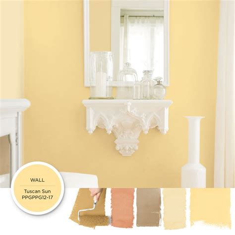 classic yellow paint color tuscan sun can add a charming brightness to your space get this