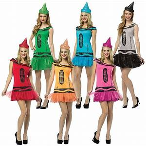 Crayola Crayon Party Dress Adult Funny Group Halloween ...
