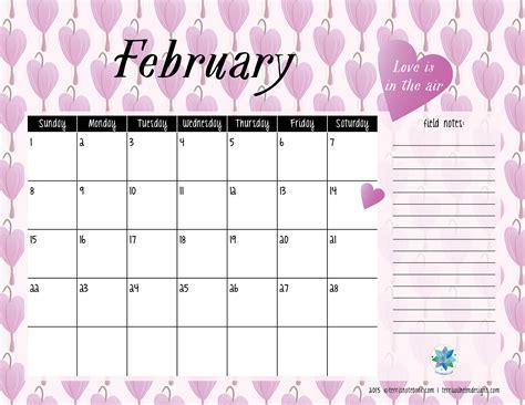 editable february  calendar