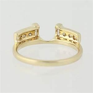 diamond enhancer wedding band 14k yellow gold women39s With womens wedding ring guards