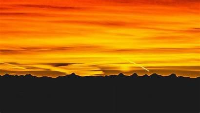 Sky Sunset Yellow Mountains 1080p Dark Hdtv