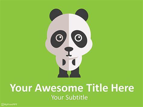 Panda template costumepartyrun free powerpoint templates zoo animals images powerpoint toneelgroepblik