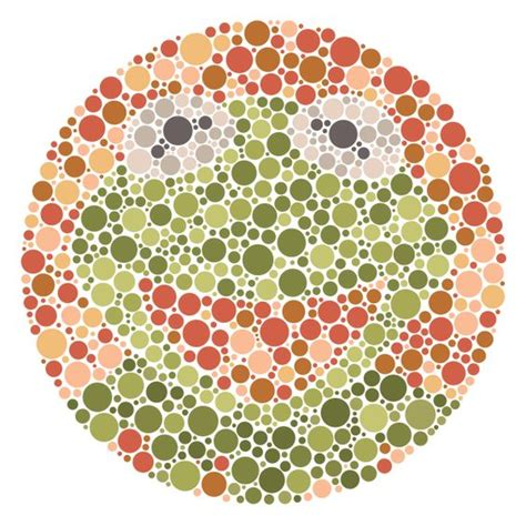 color blond test ishihara at 100 enduring of the colour blindness