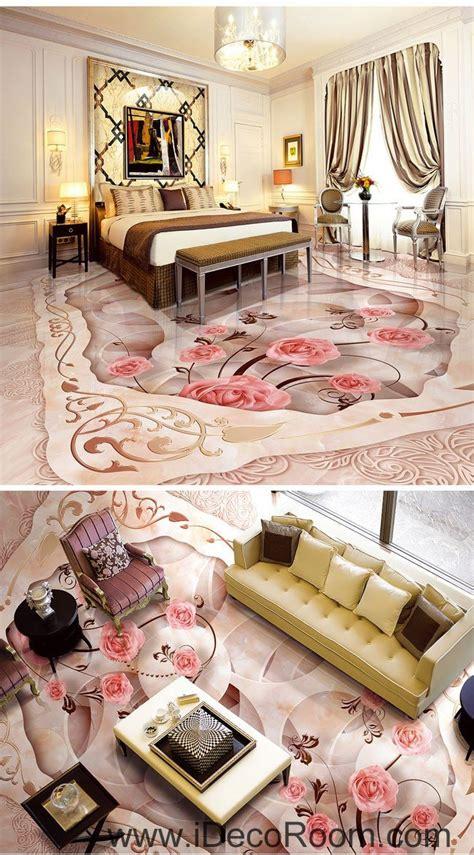 pink rose carpet shape  floor decals  wallpaper