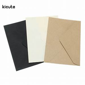 20pcs set vintage brown white black kraft blank mini paper With blank wedding invitation paper and envelopes