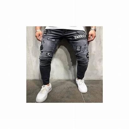 Urban Jeans Ripped Stretch Slim Biker Warrior