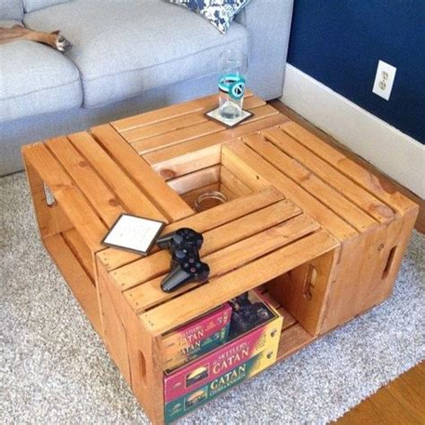 How to build a rustic coffee table that will. DIY: Crate Coffee Table - Studio All Day | Studio All Day ...