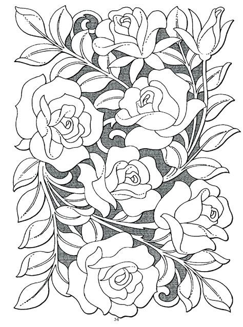 Rose coloring pages for kids. Rose Garden Coloring Pages at GetColorings.com   Free ...
