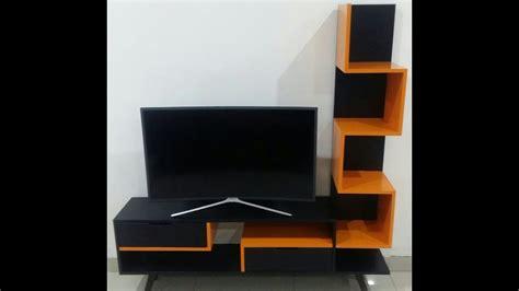 diy  membuat sendiri rak tv meja tv tv stand cantik