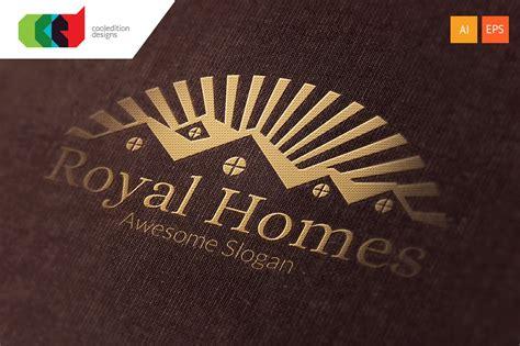 royal homes logo template logo templates creative market