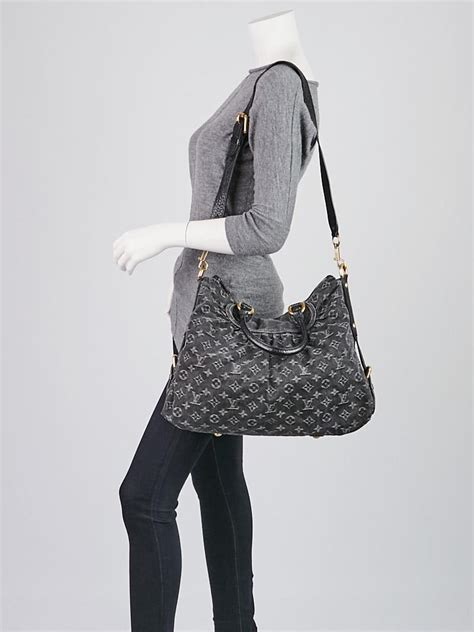 louis vuitton black denim monogram denim neo cabby gm bag