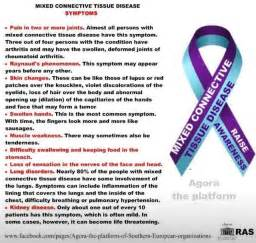 Mixed Connective Tissue Disease - Nursing S/S - Pinterest  Scleroderma Connective Tissue Disorders