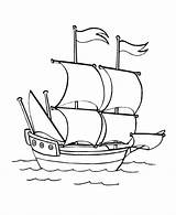 Coloring Caravel Boat Ship Boats Ships Portuguese Drawing Sheets Printable Pirate Gemi Clip Drawings Simple Speed Outline Maria Santa Colouring sketch template