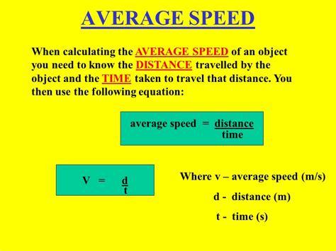 average speed distance  video