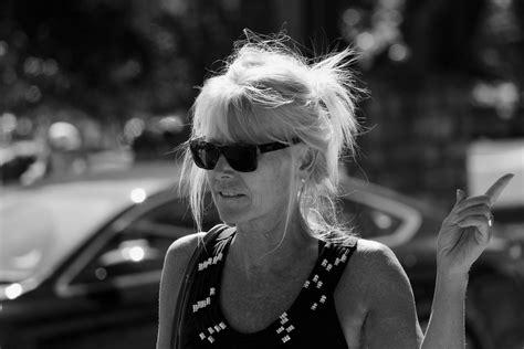 Gens, Rue, Monochrome, Portrait, Femme