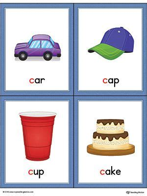 letter  words  pictures printable cards car cap cup