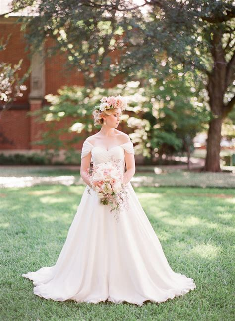 Dreamy Floral Crown Bridal Style Junebug Weddings