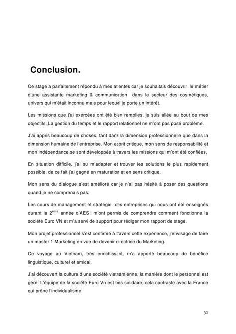 conclusion rapport de stage eme exemple  public