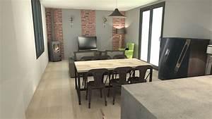 Style Industriel Salon : id e d co salon s jour cuisine id e de mod le de cuisine ~ Teatrodelosmanantiales.com Idées de Décoration