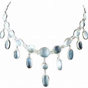 Vintage Ceylon blue moonstone waterfall necklace SOLD on ...