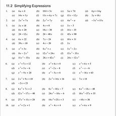 Collection Of Expanding Algebraic Expressions Worksheet  Download Them And Try To Solve