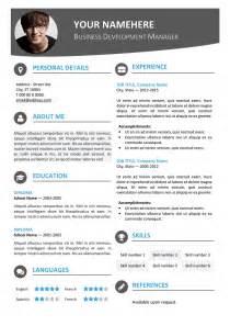 contemporary 1 resume template hongdae modern resume template
