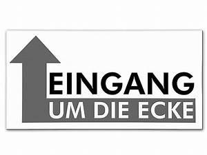 Regal Um Die Ecke : eingang um die ecke hinweisschild aus aluminium hausnummern und schilder online kaufen ~ Sanjose-hotels-ca.com Haus und Dekorationen