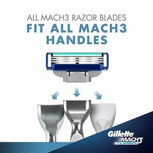 Buy Gillette Mach 3 Turbo Manual Shaving Razor Blades