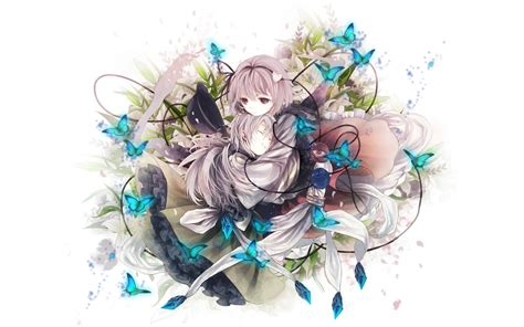 Anime Butterfly Wallpaper - anime anime with blue butterflies wallpaper