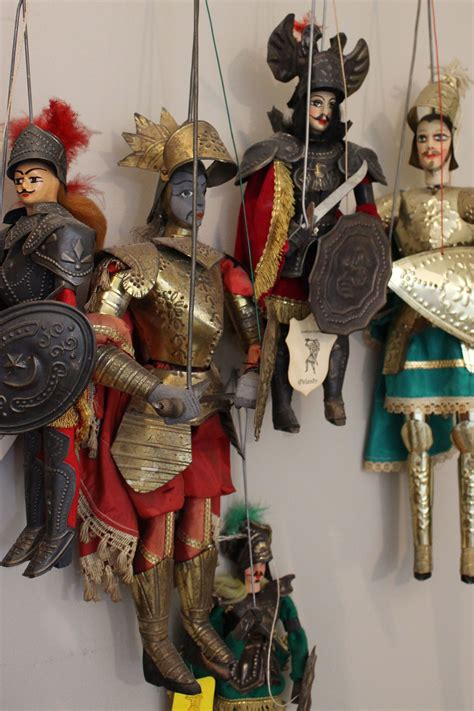 collection  vintage handcrafted sicilian marionettes