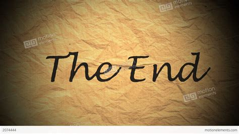 The End Stock Animation 2074444