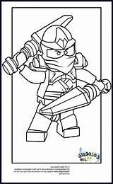Ninjago Coloring Lego Kai sketch template