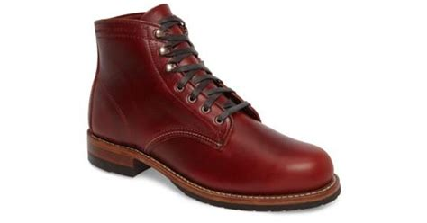 Evans Boots : Wolverine Evans Plain Toe Boot In Red For Men