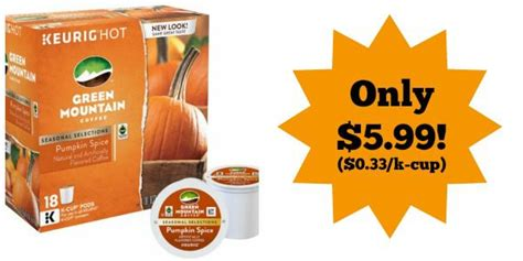 Green Mountain Pumpkin Spice K Cup Walmart green mountain pumpkin spice k cups 18 pack only 5 99