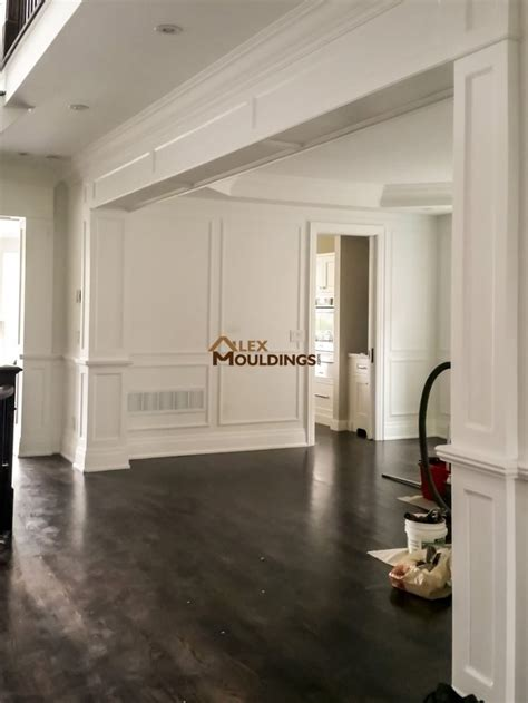 archways openings custom millwork wainscot paneling