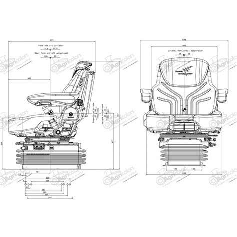siege grammer tracteur siège grammer maximo dynamic pneumatique réf gramaxxxltd