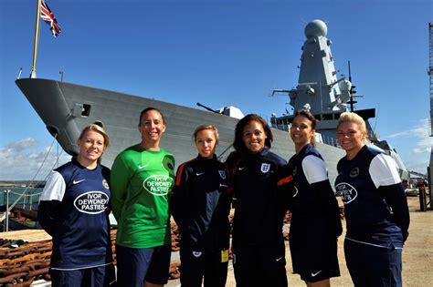 Ship Football by Navy S Newest Warship Hosts England Football