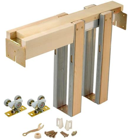 pocket door hardware kit johnson hardware 1500 series pocket door frame for doors