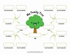 Family Tree For Children  U2013 Free Family Tree Templates