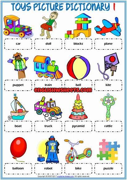Toys Dictionary Vocabulary Worksheets Printable Englishwsheets Esl