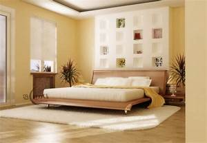 Warme Farben Fürs Schlafzimmer : schlafzimmerwand gestalten wanddeko hinter dem bett ~ Markanthonyermac.com Haus und Dekorationen